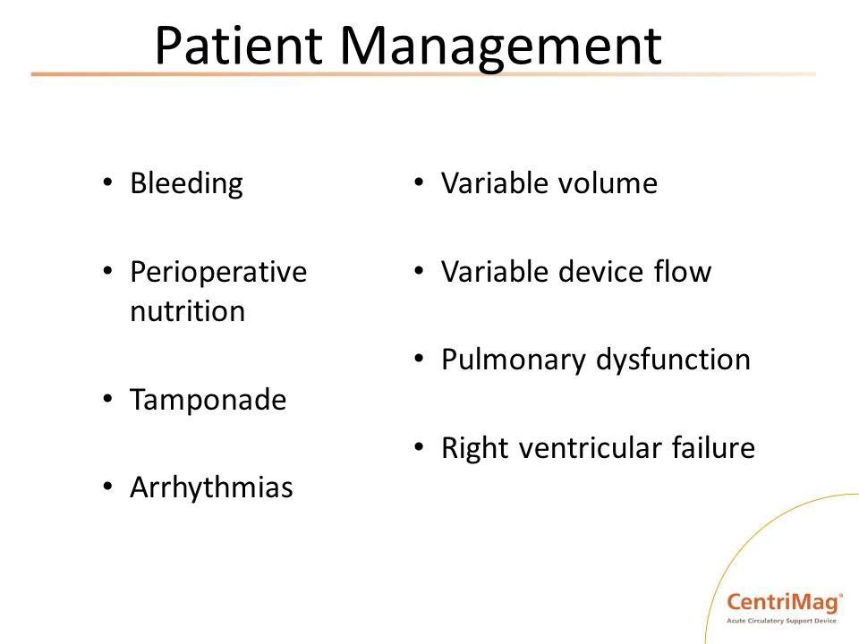 Patient Management Bleeding Perioperative nutrition Tamponade