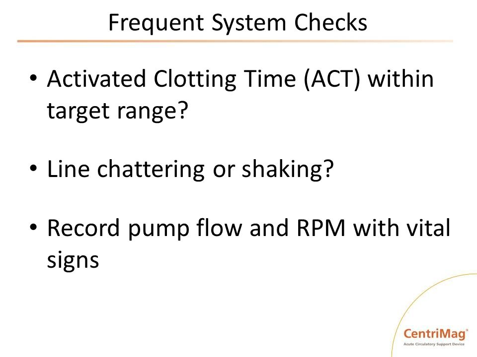 Frequent System Checks