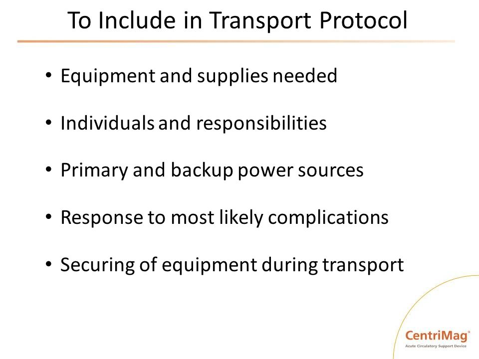 To Include in Transport Protocol