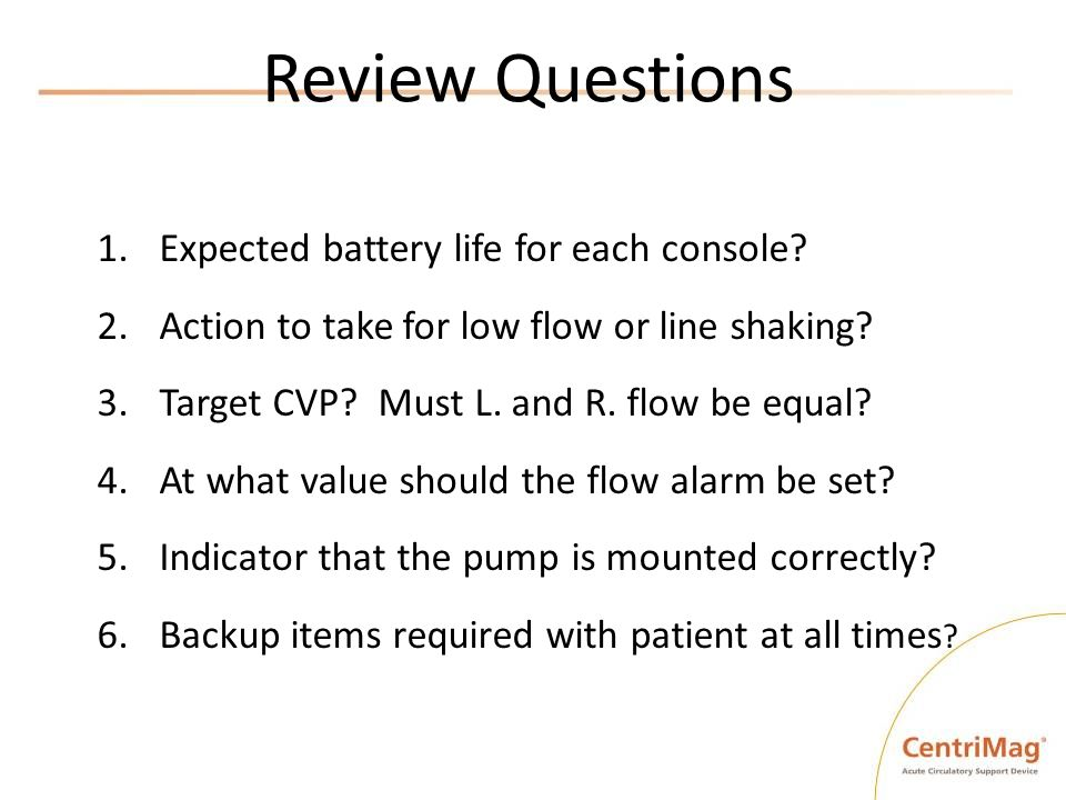 Review Questions Expected battery life for each console