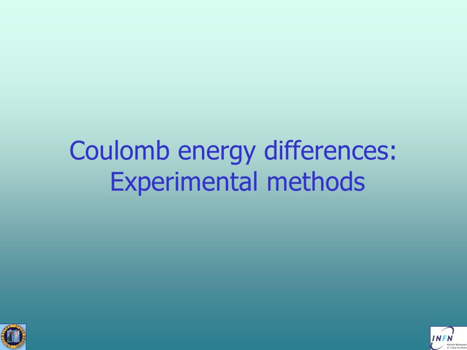 Coulomb energy differences: Experimental methods