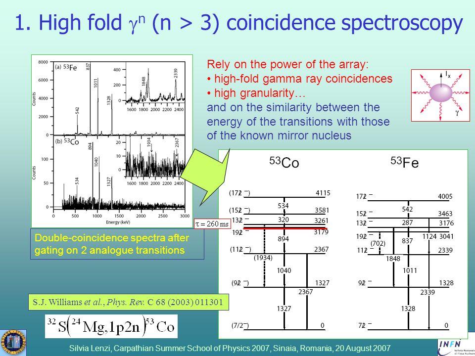 1. High fold gn (n > 3) coincidence spectroscopy