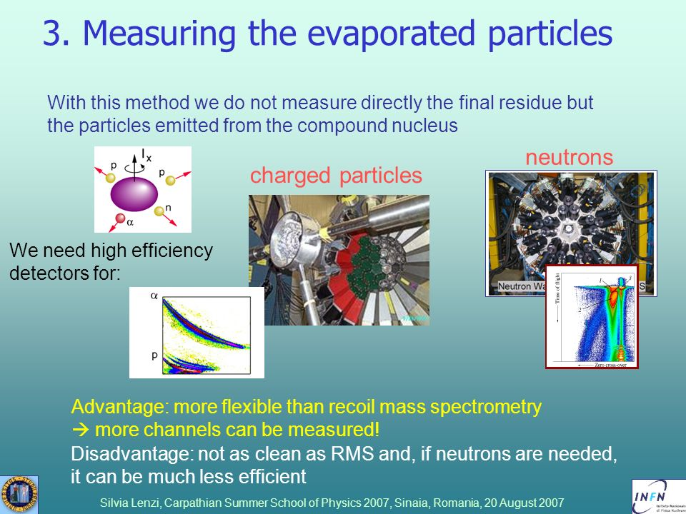 3. Measuring the evaporated particles