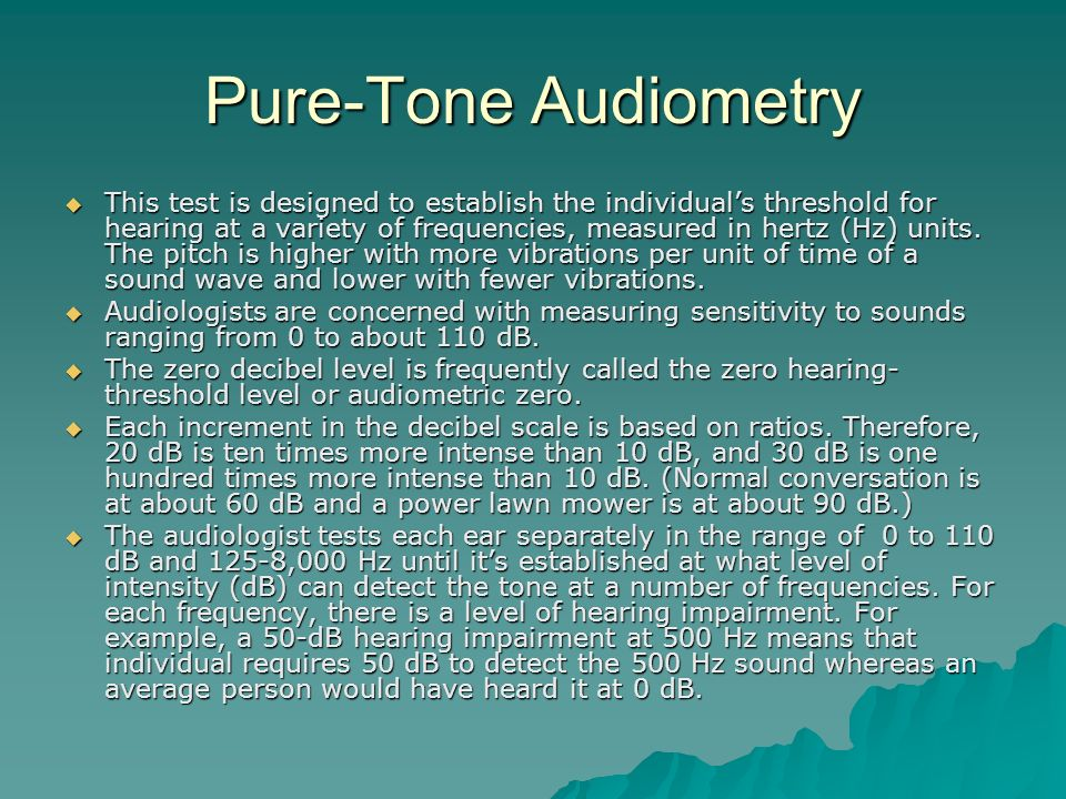 Pure-Tone Audiometry