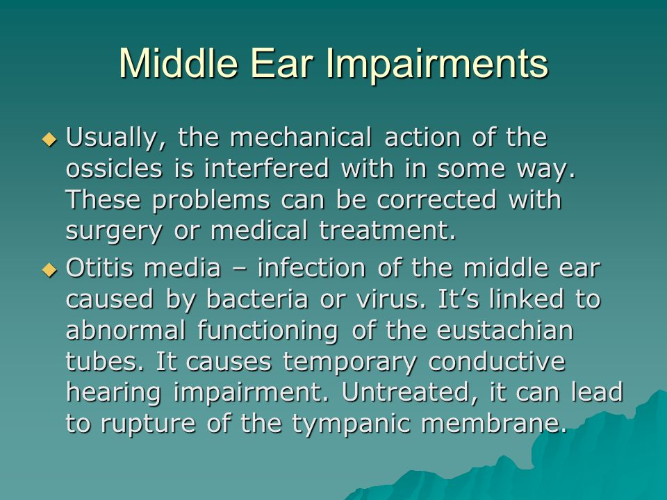 Middle Ear Impairments