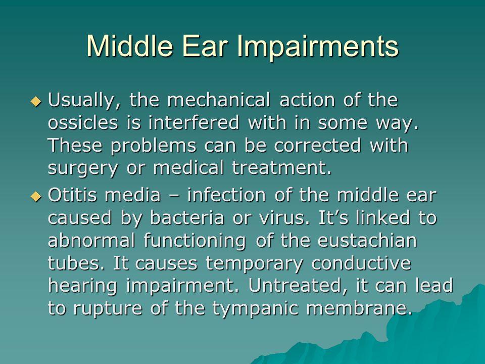 Middle Ear Impairments