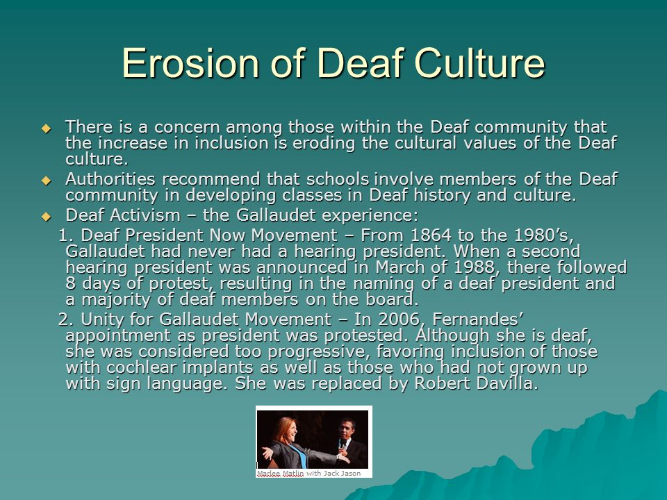 Erosion of Deaf Culture