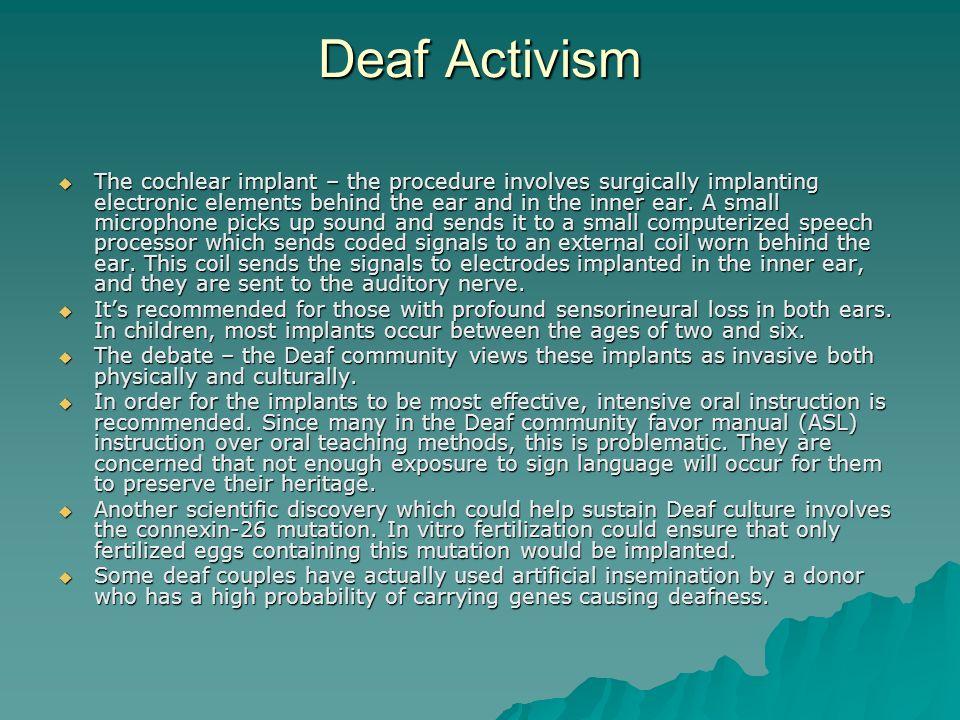 Deaf Activism