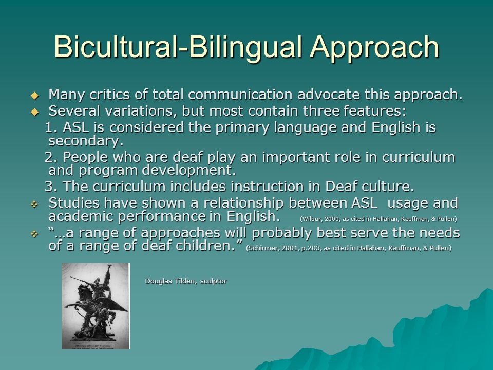 Bicultural-Bilingual Approach