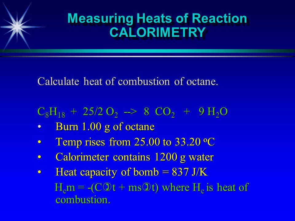 Measuring Heats of Reaction CALORIMETRY