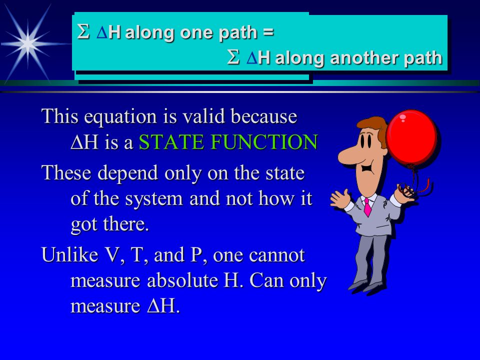 This equation is valid because DH is a STATE FUNCTION