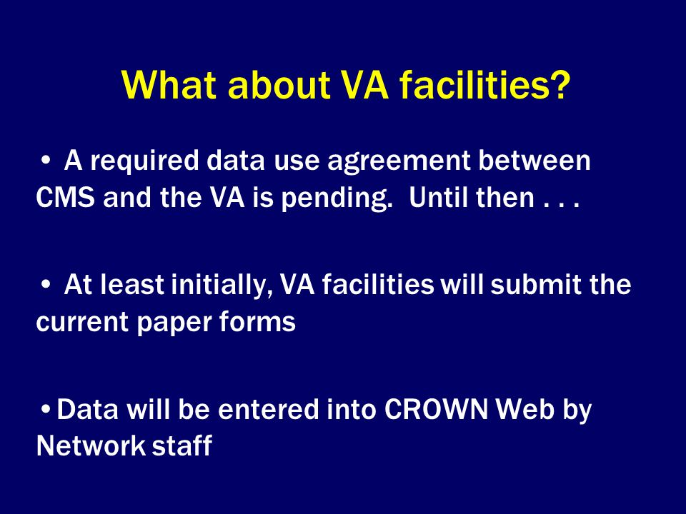 What about VA facilities