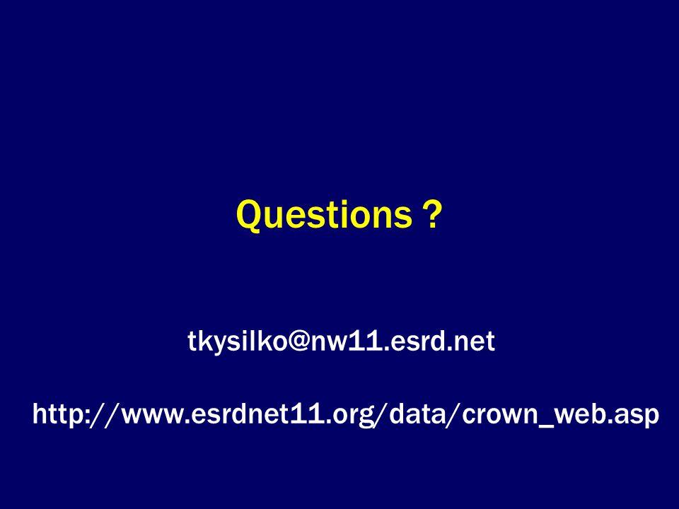 Questions tkysilko@nw11.esrd.net