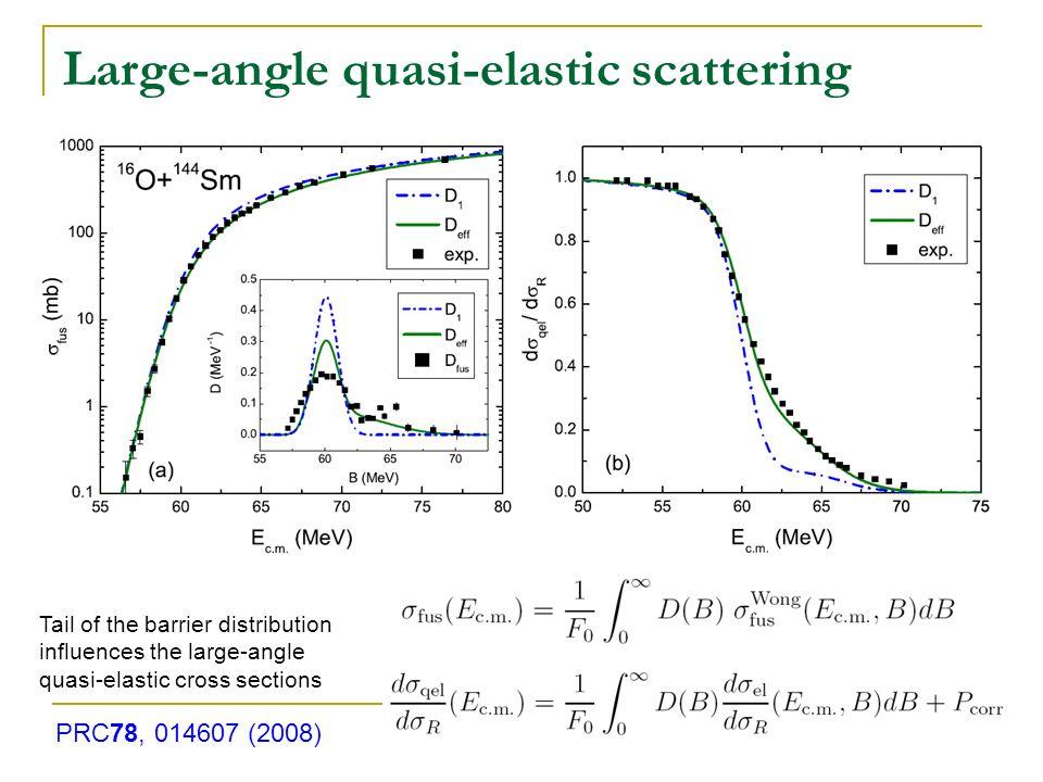 Large-angle quasi-elastic scattering