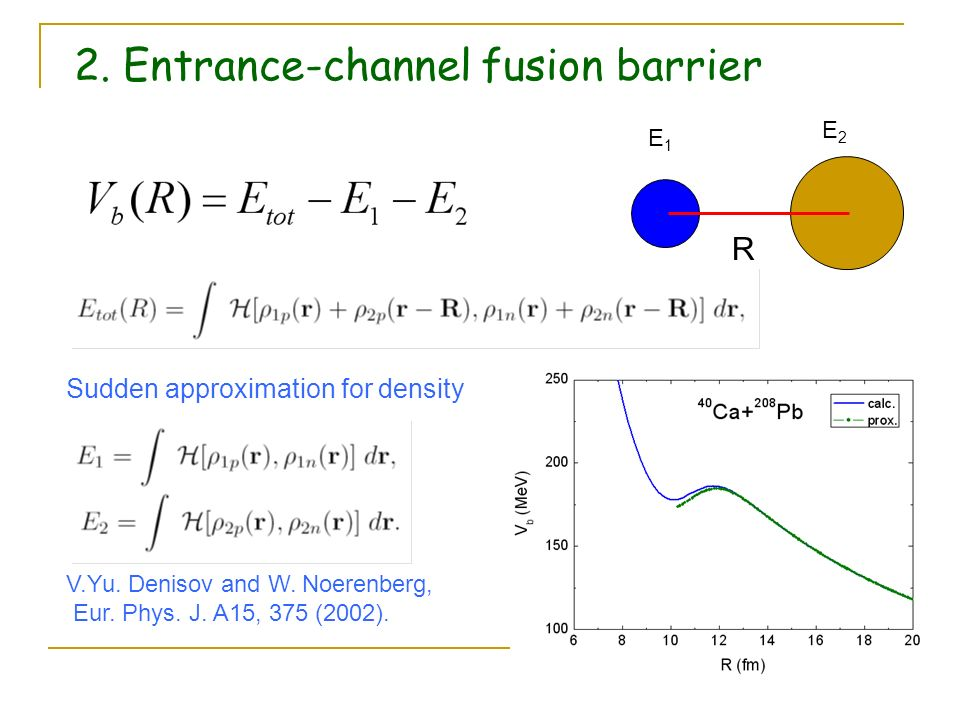 2. Entrance-channel fusion barrier