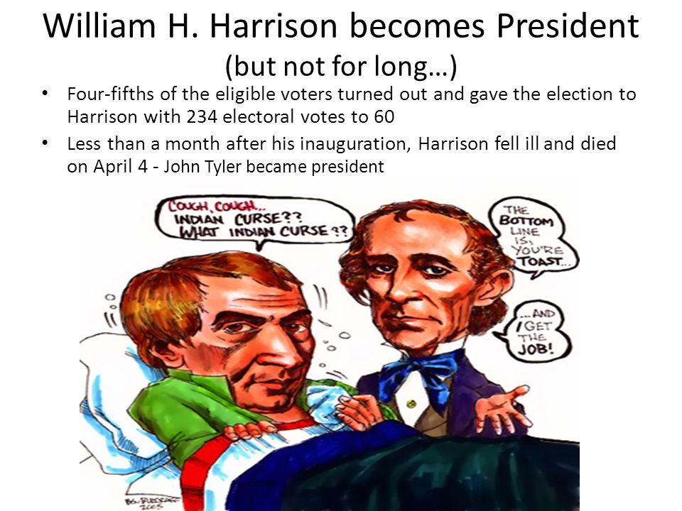 William H. Harrison becomes President (but not for long…)