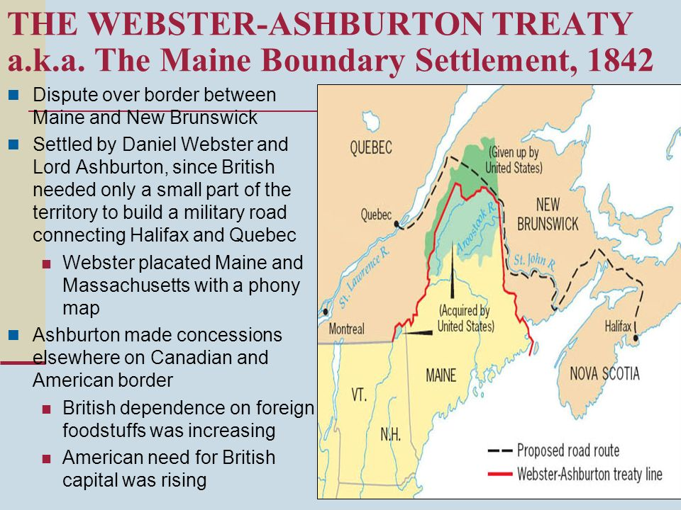 THE WEBSTER-ASHBURTON TREATY a. k. a