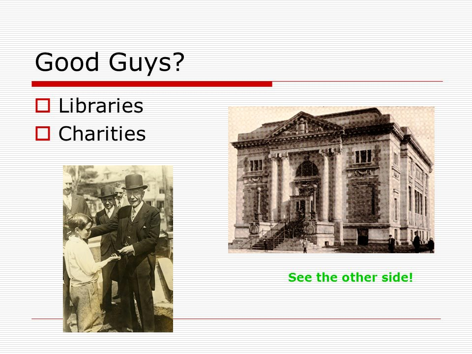 Good Guys Libraries Charities See the other side!