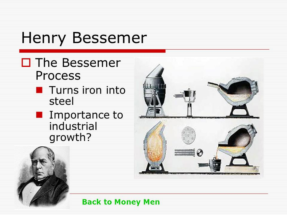 Henry Bessemer The Bessemer Process Turns iron into steel