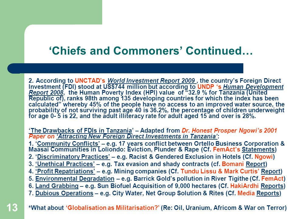 'Chiefs and Commoners' Continued…