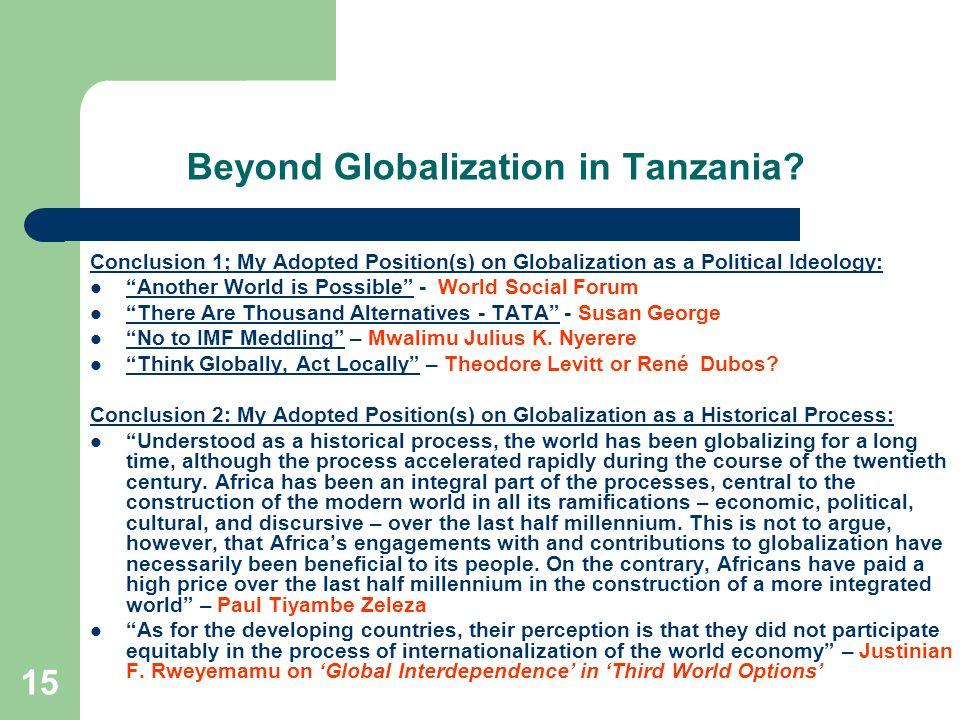 Beyond Globalization in Tanzania