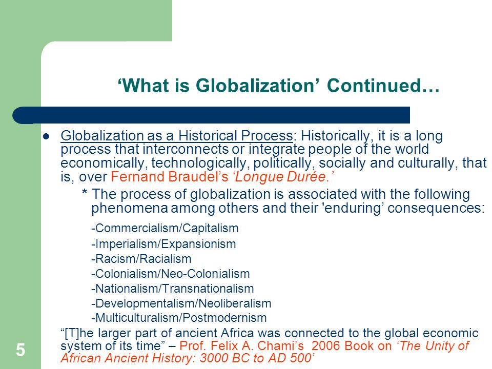 'What is Globalization' Continued…