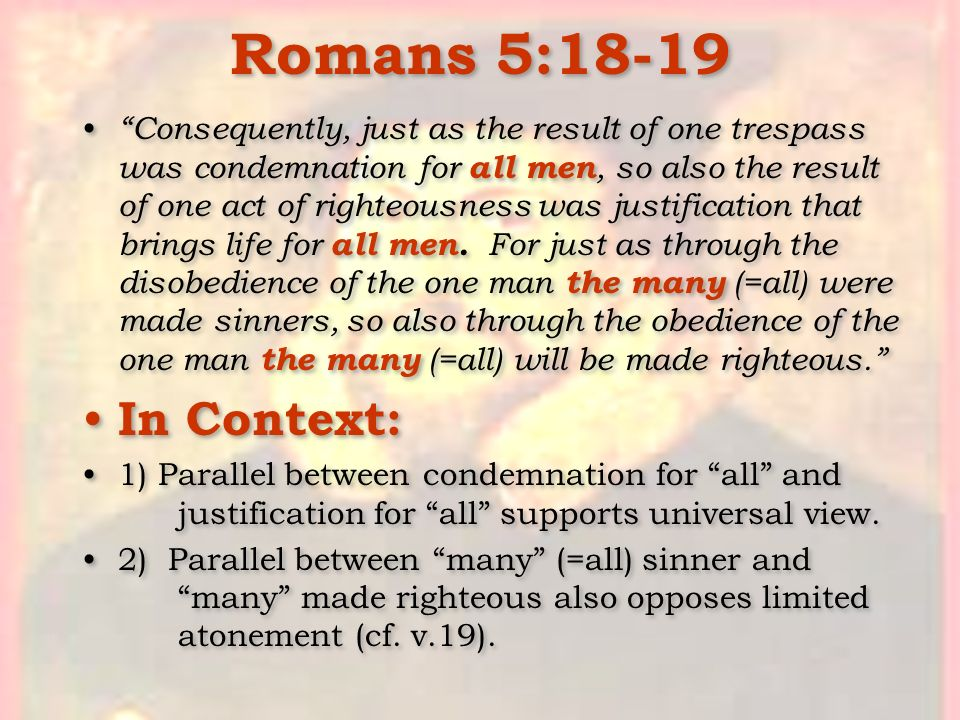 Romans 5:18-19