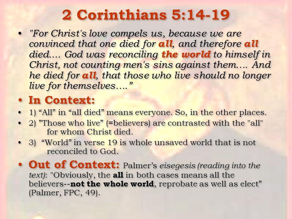 2 Corinthians 5:14-19 In Context: