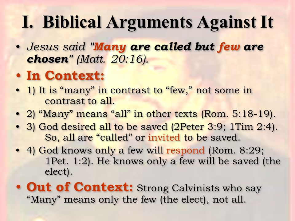 I. Biblical Arguments Against It