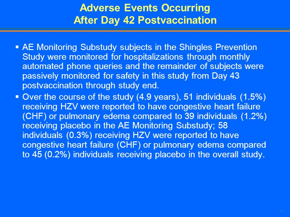 Adverse Events Occurring After Day 42 Postvaccination