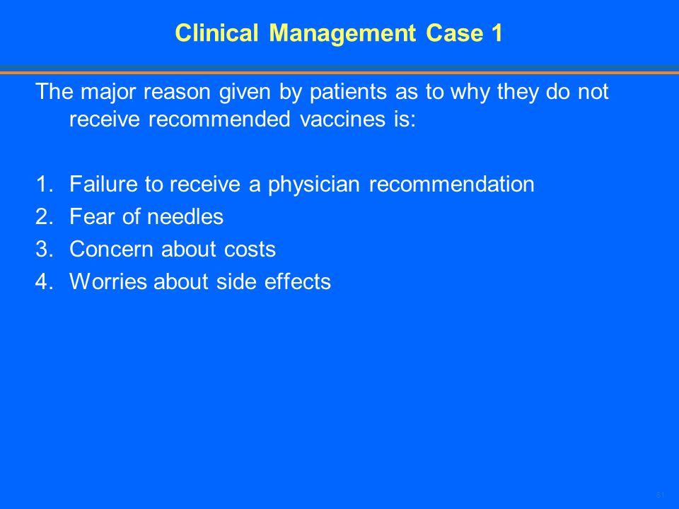Clinical Management Case 1