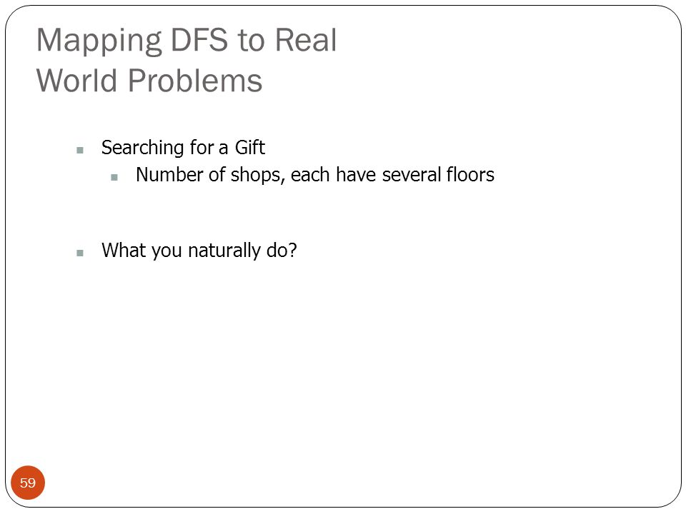 Mapping DFS to Real World Problems