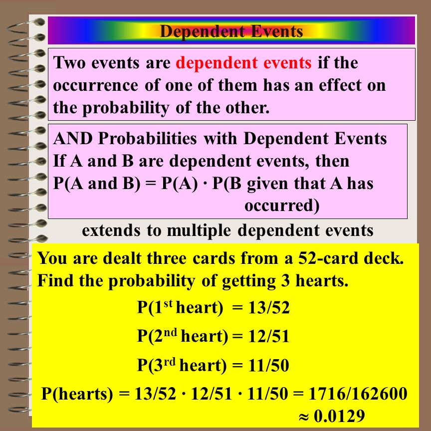 extends to multiple dependent events