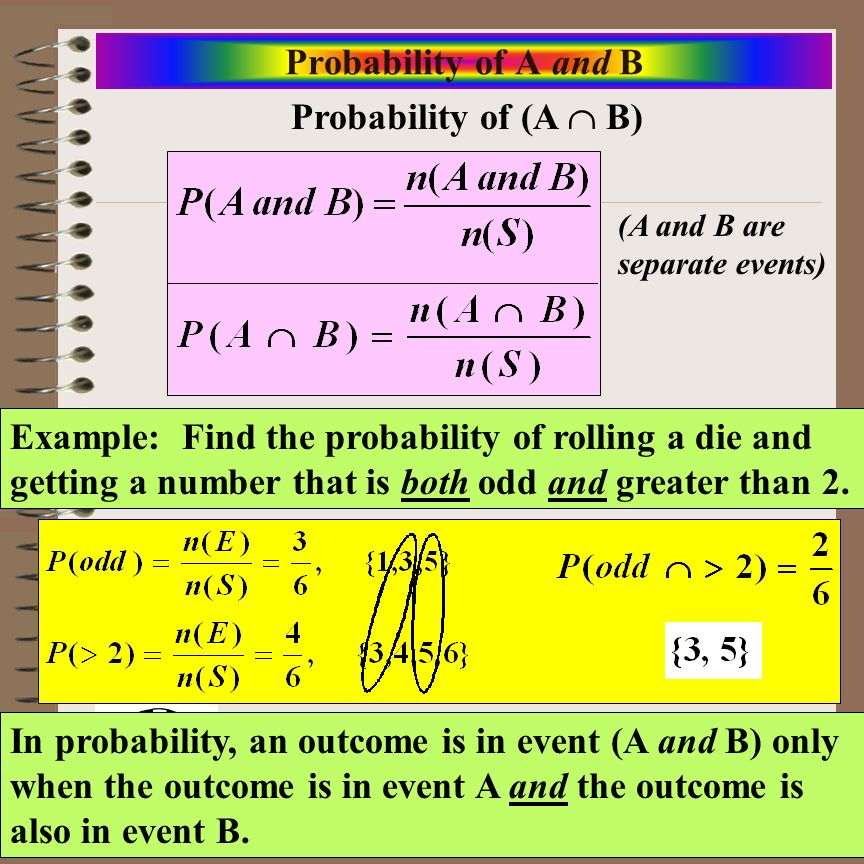 Probability of A and B Probability of (A  B)