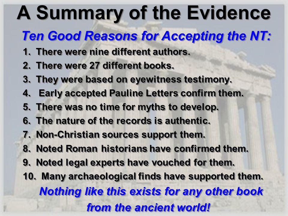 A Summary of the Evidence