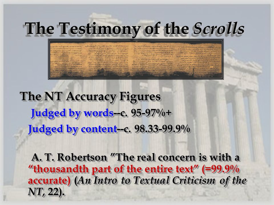 The Testimony of the Scrolls