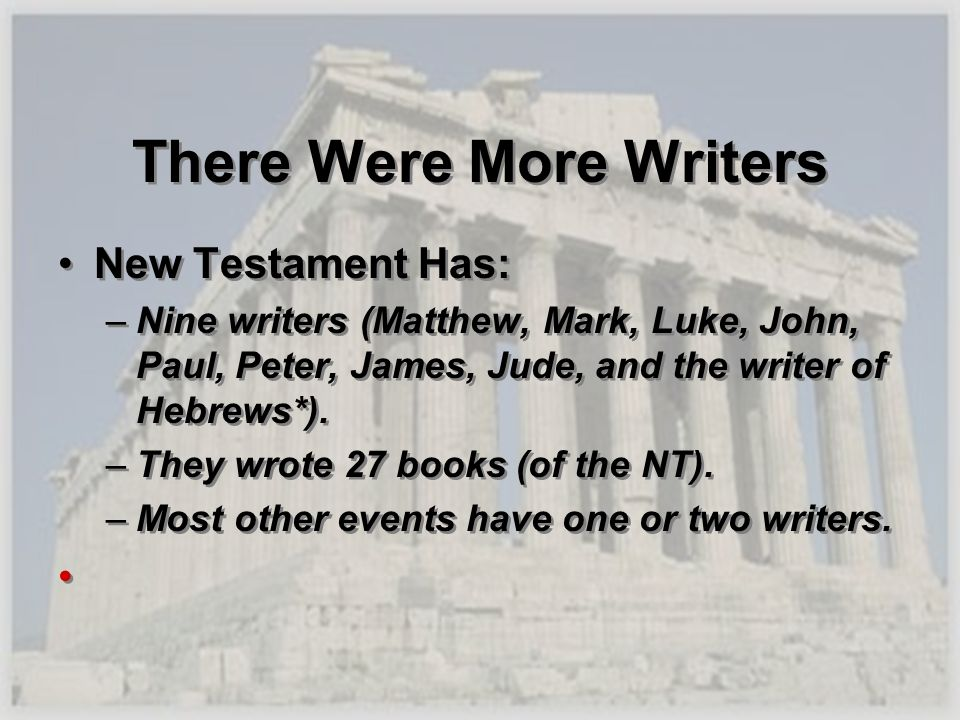 There Were More Writers