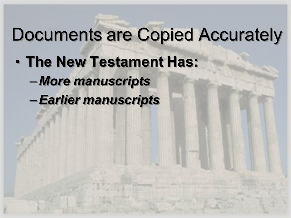 Documents are Copied Accurately
