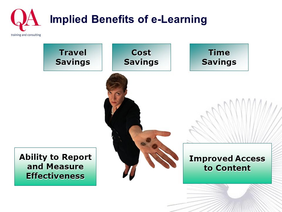 Implied Benefits of e-Learning