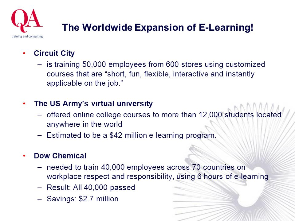 The Worldwide Expansion of E-Learning!