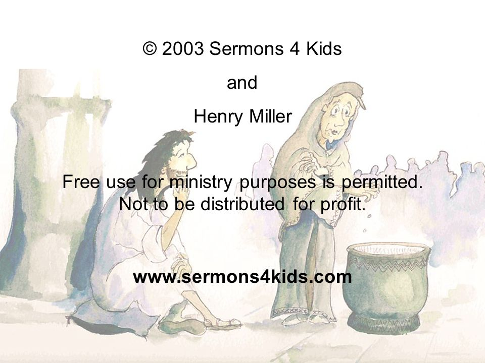 Free use for ministry purposes is permitted.