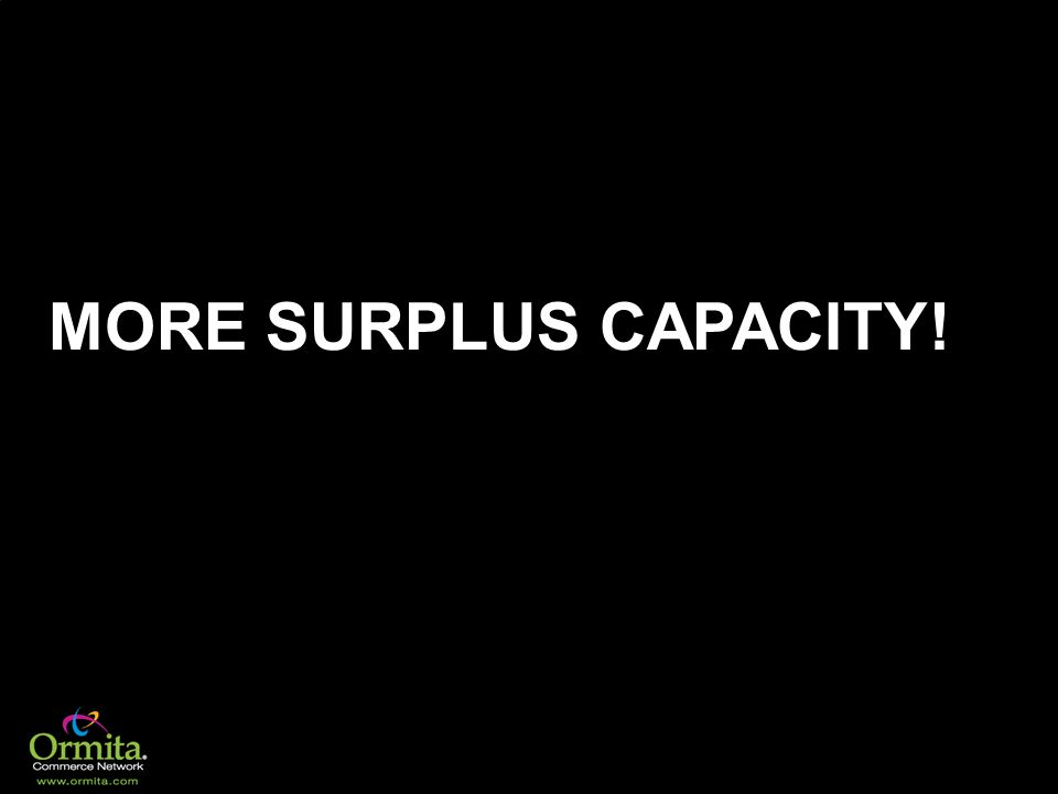 MORE SURPLUS CAPACITY!
