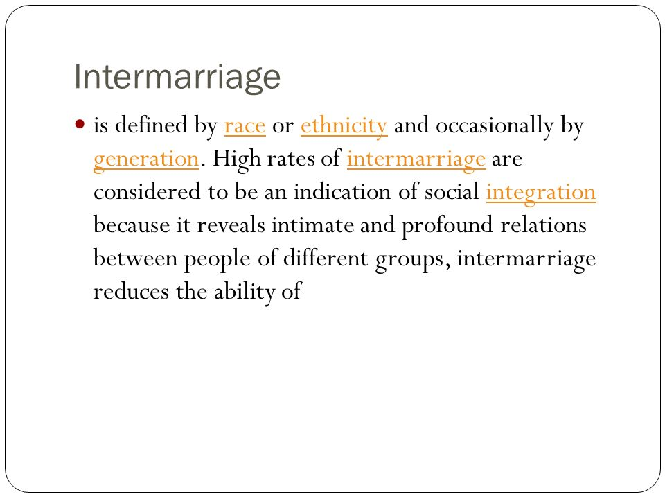 Intermarriage