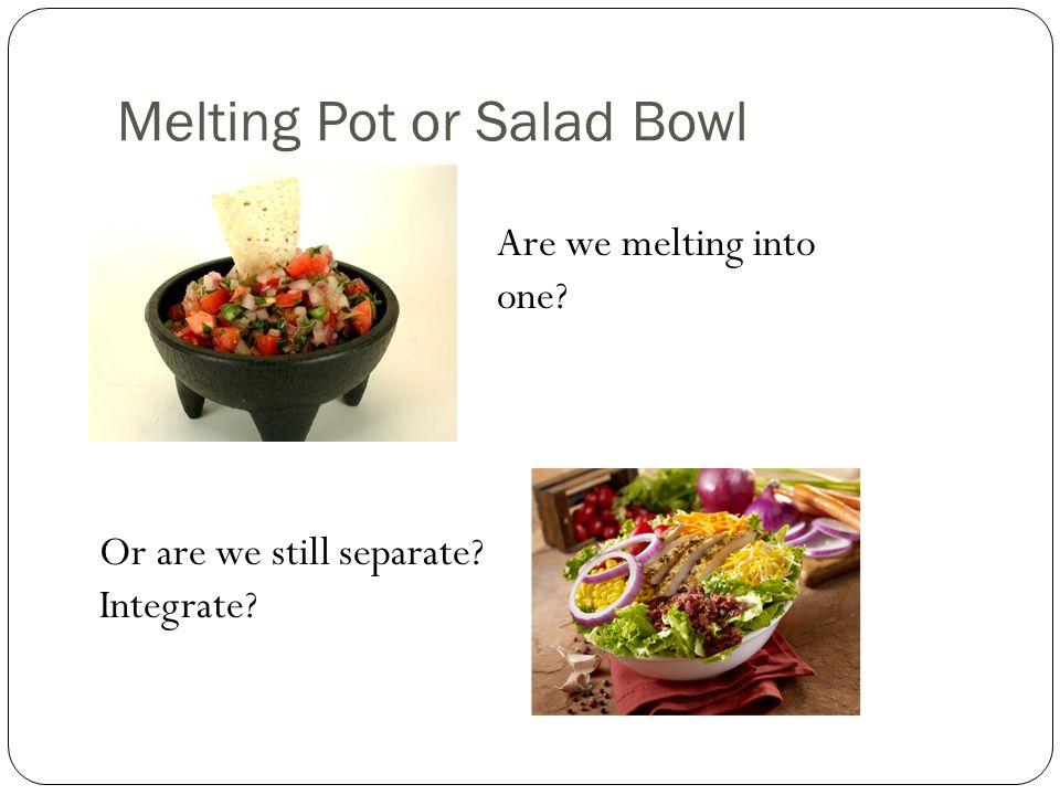 Melting Pot or Salad Bowl