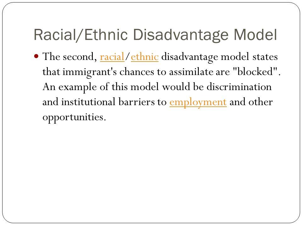 Racial/Ethnic Disadvantage Model