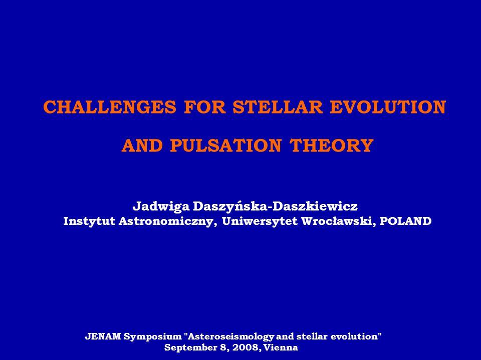 CHALLENGES FOR STELLAR EVOLUTION
