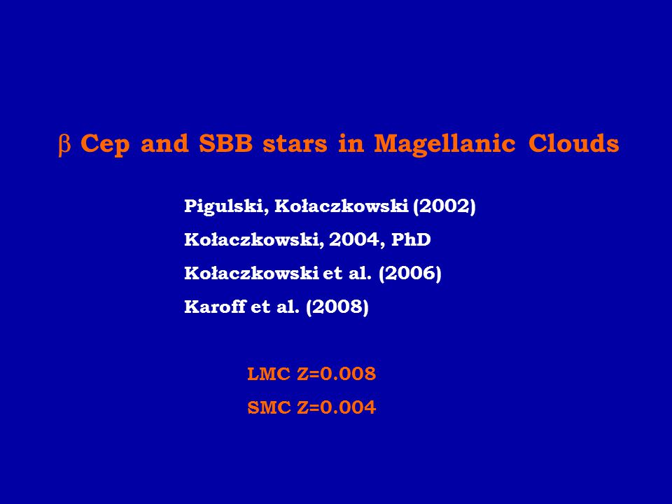  Cep and SBB stars in Magellanic Clouds