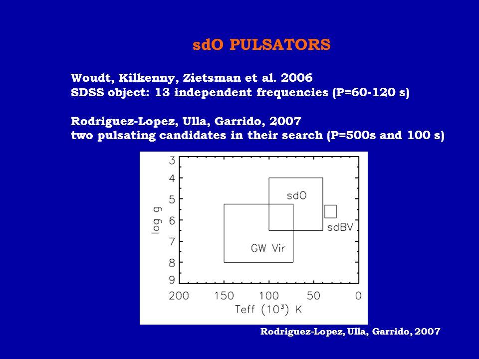 sdO PULSATORS Woudt, Kilkenny, Zietsman et al. 2006