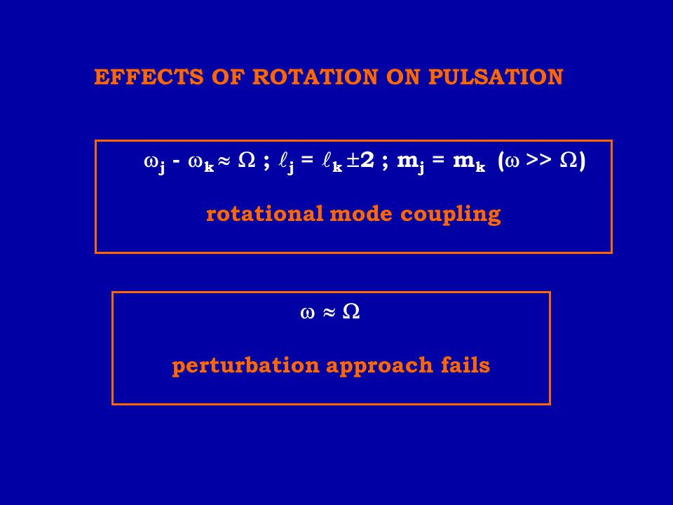 EFFECTS OF ROTATION ON PULSATION