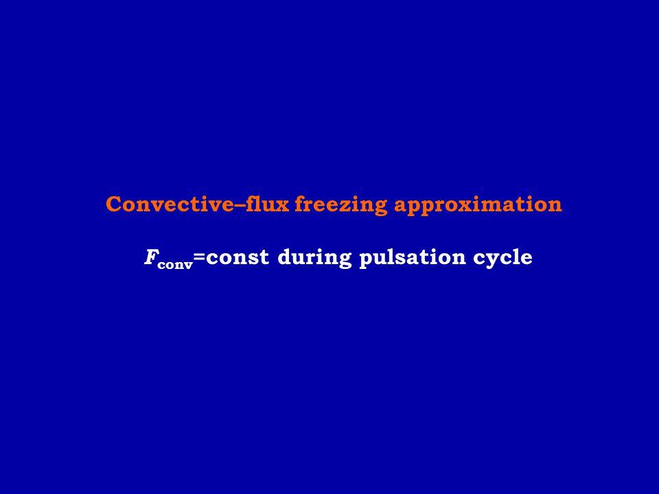 Convective–flux freezing approximation